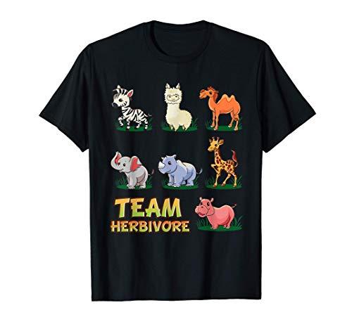 Team Herbivore: animales bebé veganos, llama, hipopótamo Camiseta