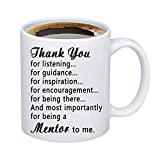 MBMSO Mentor Mug Mentor Thank You Gifts Appreciation Gifts for Mentors Boss Supervisor Leader (Thank you for being a Mentor to me)
