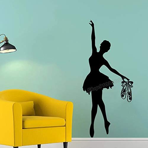 Ballet Dance Ballerina Gymnastics Dance Studio Vinilo Bailarina Pointe Zapatos Family Wall Sticker