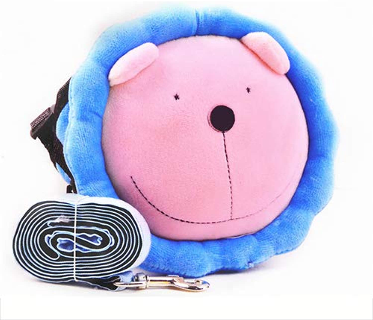 Cute Cartoon Dog Backpack Adjustable Saddle Bag Pack Carrier Harness for Walking Travelling Suitable for Small Dogs,S