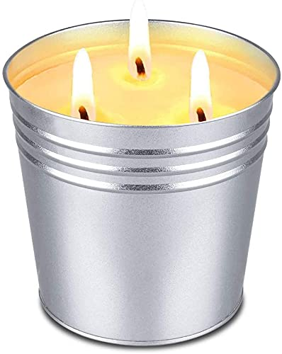 Citronella Candles, Citronella Candles Outdoor and Indoor Candles for Garden, Suitable for Camping, Picnic, Yoga, The Best Gift for Relaxation, Burning Time 80-150 Hours