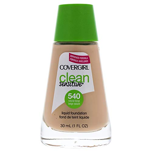 COVERGIRL Clean Sensitive Skin Foundation Natural Beige - 540 (2 Pack)