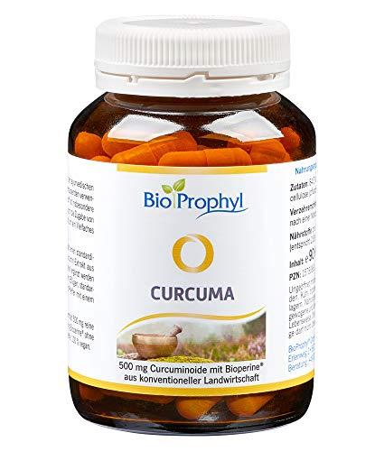 BioProphyl® Curcuma - 526 mg 95% iger Curcuma Extrakt mit 500 mg reinem Curcumin aus Curcuma longa mit Bioperine (schwarzer Pfeffer) - Vorratsdose mit 90 pflanzliche Kapseln für 3 Monate