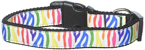 Mirage Zebra Rainbow Nylon band hondenhalsband, Not Applicable