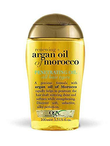 OGX Aceite de Argán de Marruecos, aceite penetrante, pelo radiante, sedoso, suave, brillante - 100 ml (2723700)