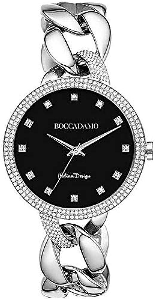 Boccadamo, orologio per donna, in acciaio e cristalli swarovski Lb004