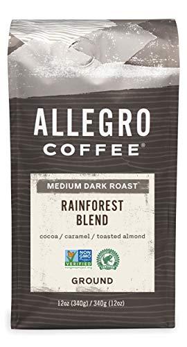 Allegro Coffee Rainforest Blend Ground Coffee, 12 oz