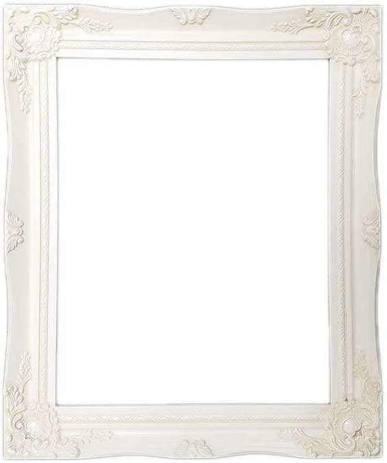 Picture Frame White 30x24 Baroque Wedding Frame-Photo Frame Photoframe c6e White