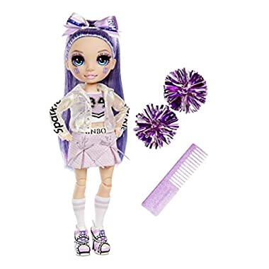 Rainbow High Cheer Violet Willow – Purple Cheerleader Fashion Doll with Pom Poms and Doll Accessories, Great Gift for…
