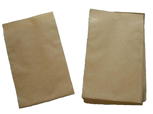 Papiertüten braun flach 10,5x15cm (600St.) von BLÜHKING®