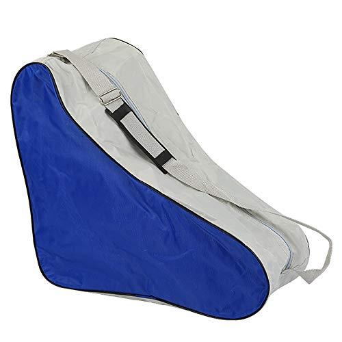 DAZISEN Skischuhtasche - Dauerhaft Tasche Schlittschuhe Rollschuhe Tasche für Erwachsene, Blau, 42 * 20 * 39cm