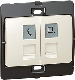 Telephone/data socket Mallia - RJ 11 + RJ 45 socket category 5e UTP - pearl