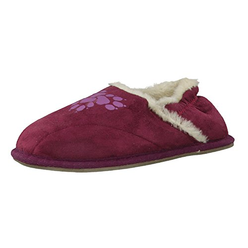 Jack Wolfskin Hausschuhe Girls Big Paw 4000202 28 Bordeaux