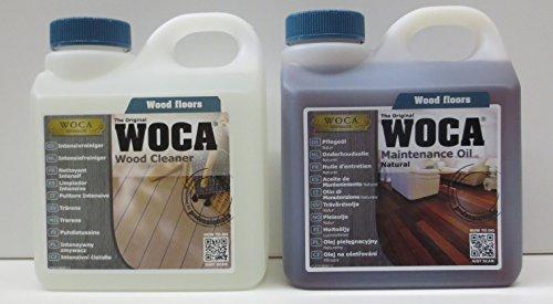 Woca Spar Set di cura set 1X Detergente intensivo 1L + 1X Cura Olio Naturale 1L by avaro haus24