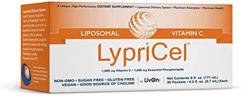 LypriCel Liposomal Vitamin C – 30 Packets – 1,000 mg Vitamin C Per Packet – Liposome Encapsulated for Maximum...