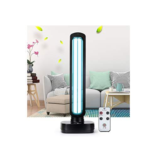 UV Ozon Lampe UV-Desinfektionslampe Haushaltssterilisation Mobile Sterilisationslampe Ozonentfernung Milbenschlafzimmer Formaldehydkillerlampe 65W mit Ozon-Zeitschaltuhr 3. Gang 1 ozonfreie