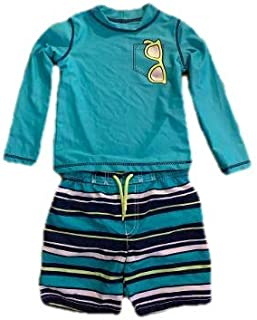 Rash Guard Set Shorts and Top 4T Turquoise