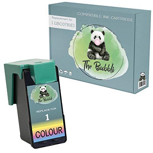 The Bubbli Original | No. 1 Remanufacturado Cartucho de Tinta Compatible para LEXMARK X2300 X2310 X2315 X2350 X2450 X2470 X2480 X3450 X3470 X3480 Z730 Z735 (Color)
