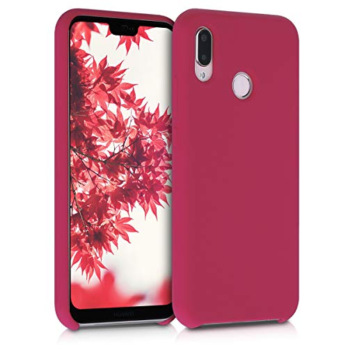 kwmobile Cover Compatibile con Huawei P20 Lite - Custodia in Silicone TPU - Back Case Protezione Cellulare Fucsia Matt