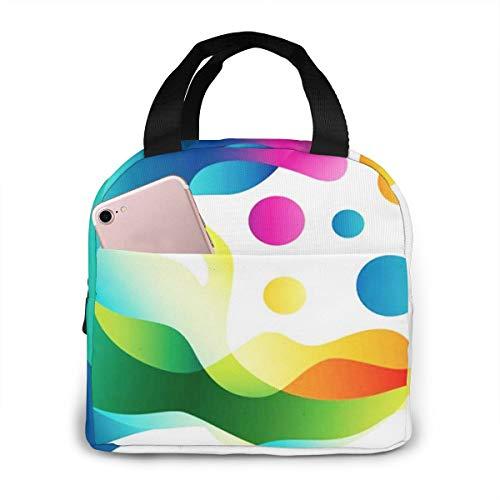 QCFW Lunch Tasche Kühltasche Picknick Schule Lunch Paket Kühlbox Isoliertasche Mittagessen Tasche für Herren Damen Kinder im Freien Menschenkopf Medien