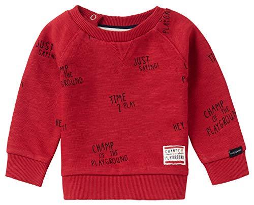 Noppies Baby-Jungen B Sweater LS Springs AOP Sweatshirt, Scarlet Sage-P591, 56