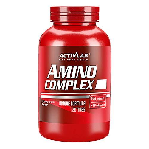ACTIVLAB AMINO COMPLEX 120 tabletas masticables | BCAA + Aminoácidos Esenciales de Espectro Completo | L-glutamina | Anabólico + Anticatabólico | Complemento alimenticio para el crecimiento muscular