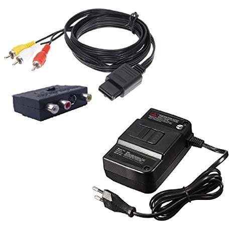 DARLINGTON & Sohns Kabel Netzteil Set für Nintendo 64 N64 Netzkabel Ladekabel Ladegerät Ersatznetzteil Stromkabel AC Adapter