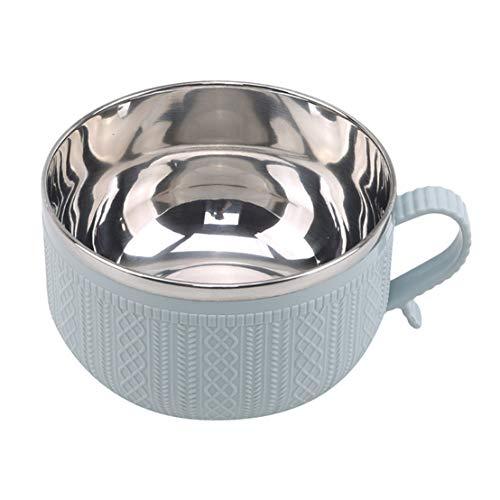 CAIRLEE Caja de almuerzo aislada de doble capa de acero inoxidable Tazón de fideos instantáneos para el trabajo en el hogar (azul)