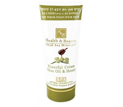 Health & Beauty Dead Sea Minerals - Powerful Cream Olive Oil & Honey 180ml