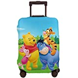 Travel Luggage Cover Winnie Pooh Happy Time Suitcase Protector Washable Baggage Covers 18-32 Inch-L