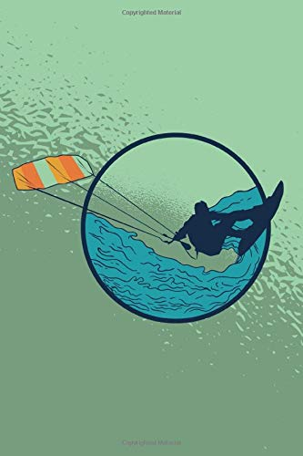 KITE SURFER NOTEBOOK: 6x9 checkered notebook for all who love kite surfing