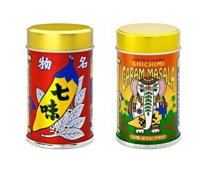 八幡屋礒五郎 唐からし2缶セット(七味・七味ガラムマサラ) カンブリア宮殿