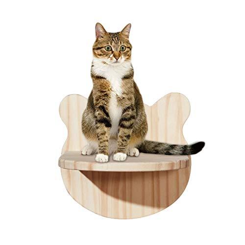 kleine Katzenleiter Katzen Wandpark,Kletterwand Für Katzen Katzentreppe Steps,Tiertreppe 3er Set Wandmontage Katzenregal großartiges Design | Aufstiegshilfe für Katzen bis 10 kg