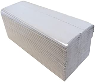 Pack of 3600 245 mm x 222 mm 1-Ply White 2WORK HIW136 I-Fold Hand Towel