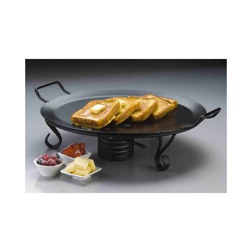 "American Metalcraft GSS17 Round Iron Griddle Stand, 17"" Dia, Black"