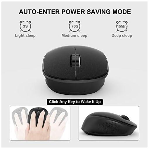 WisFox Ratón Inalambrico, Ratón Silencioso 2.4G con USB Nano Receptor de Computadora Portátil para Computadora Portátil… 6