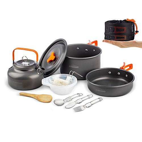 Overmont Complete Camping Cookware Campfire Set
