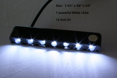 Pilotlights.net LED Map Light White - Seven (7) LEDs - Courtesy Convenience Footwell Light