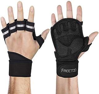 FREETOO [最新版] トレーニンググローブ ウェイトリフティング ドット状滑り止め 高弾性パッド 通気性 手首保護 フィット感 筋トレ ジム リストフラップ 4サイズ