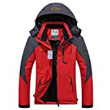 Alomoc Women's Winter Hiking Jacket Waterproof Softshell Snowboard Coats with Hood