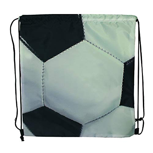 Sports Drawstring Backpack, Soccer, for your gym class and sports teams - Set of 6