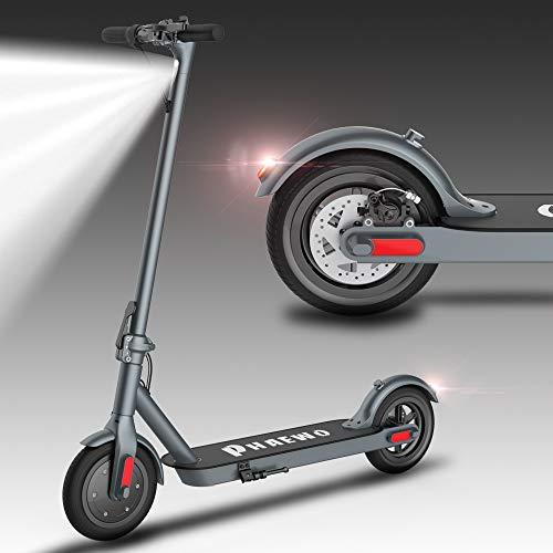 Monopattino Elettrico Pieghevole , display LCD e luce a LED, MAX 25KPH, 25,8 km di autonomia, impermeabile, pneumatico (antideflagrante), scooter elettrico per adulti e adolescenti unisex (grigio)
