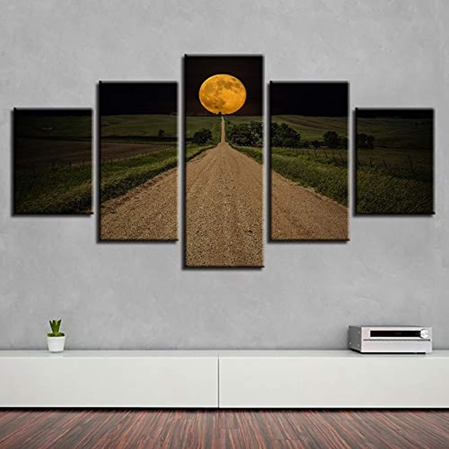 Oil Painting Home Decorative Modular 5 Panel Landscape HD Canvas Photo Framework Wall Art Prints Poster for Living Room