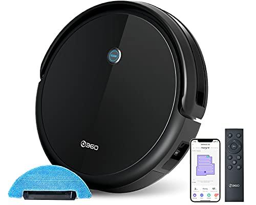 360 C50 Robot Aspirador y Mop, 2600 Pa, Horario, Profundo, Limpieza de Puntos, Control Remoto, Funciona con Alexa y Google Assistant