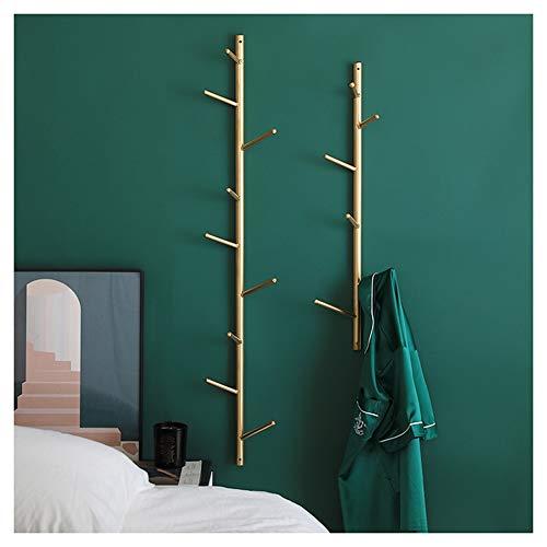Garderobe Nevy Garderobenständer Kleiderhaken Wand Kreatives Baum-hängendes Gestell Metall Hängend Kleiderständer Gold 2 Größen Für Flur Diele Schlafzimmer Wartezimmer (Size : Combination)