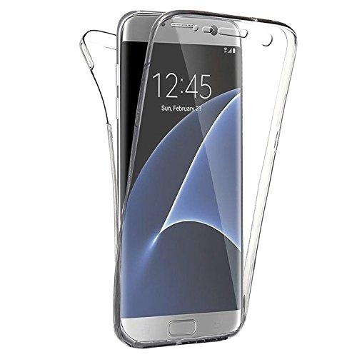 COPHONE Custodia per Samsung Galaxy S7 Edge 360°Full Body Cover Trasparente Silicone Case Molle di TPU Trasparente Sottile Protezione per Galaxy S7 Edge