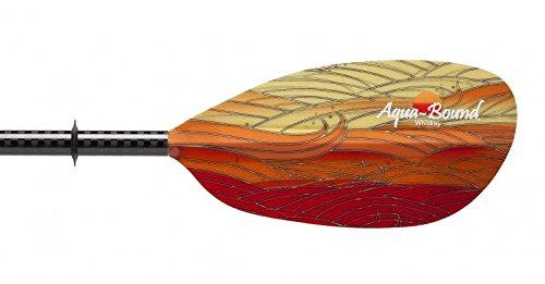 AQUA-BOUND Whiskey Fiberglass Kayak Paddle Sunwave Blue 200