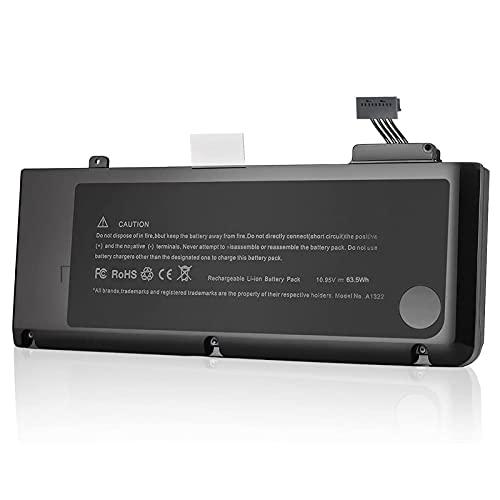 YXXM A1322 - Batería A1278 para Apple MacBook Pro de 13 pulgadas (versión 2009 2010 2011 2012) de alta capacidad (63,5 W/10,95 V)