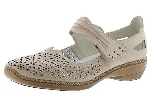 Rieker Dollar Womens Punched Detail Mary Jane Shoes 38 EU Vaniglia
