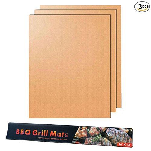 BJ-SHOP BBQ Grillmatte,Barbecue Matte Wiederverwendbare und Hochtemperaturbestandige Antihaft-Kochmatte fur BBQ und Ofenkohle oder elektrisches SGS FDA genehmigt